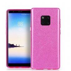 Huawei Mate 20 pro DĖKLAS GLITTER SILIKONINIS rožinis