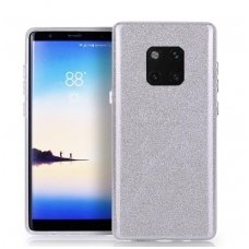 Huawei Mate 20 pro DĖKLAS GLITTER SILIKONINIS sidabrinis