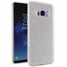 """Samsung galaxy s8 plus DĖKLAS """"Glitter"""" TPU sidabrinis"""