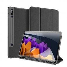 """Samsung Galaxy Tab S7 atverčiamas dėklas """"Dux Ducis Domo"""" juodas"""