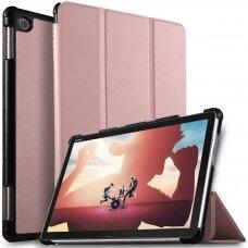 """Huawei mediapad T3 (10) atverčiamas dėklas """"Smart Leather"""" eko oda rožinis"""