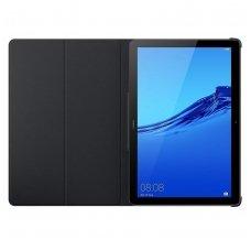 """Huawei mediapad T5 10 atverčiamas dėklas originalus  """"Flip Cover"""" eko oda juodas"""