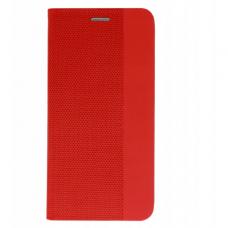 Akcija! Huawei P smart 2019 atverčiamas dėklas Vennus SENSITIVE book raudonas