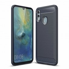 Huawei P smart 2019 dėklas HURTEL CARBON BUSH TPU mėlynas