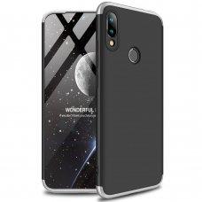 Xiaomi redmi 7 HURTEL dėklas dvipusis 360 plastikas juodas-pilkas