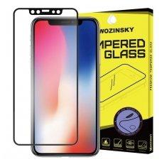 iphone x / xs / 11 Pro lenktas grūdintas apsauginis stiklas wozinsky H Pro 3D juodais kraštais