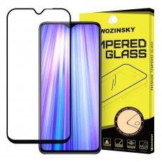 xiaomi redmi note 8 pro lenktas grūdintas apsauginis stiklas Wozinsky juodais kraštais