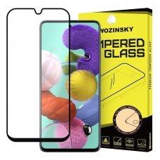 samsung galaxy a71 lenktas grūdintas apsauginis stiklas wozinsky H Pro 5D FULL GLUE juodais kraštais