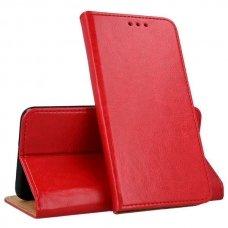 huawei p smart z atverčiamas dėklas Smart Pro odinis raudonas