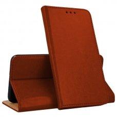 huawei p smart z atverčiamas dėklas Smart Pro odinis rudas