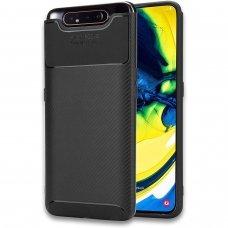 Samsung galaxy a80 dėklas Carbon Focus silikonas juodas