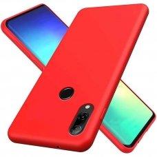 akcija! Huawei P smart z dėklas Liquid Silicone raudonas
