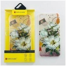 """Huawei P10 dėklas Vennus """"Flower 1"""" silkonas"""