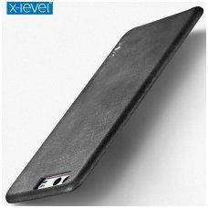 Huawei P10 dėklas X-LEVEL VINTAGE eko oda juodas