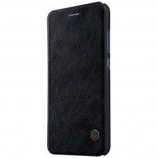 Akcija! Huawei P10 lite Atverčiamas dėklas Nillkin QIN TIKRA ODA JUODAS