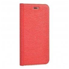 Huawei P10 Lite atverčiamas dėklas Vennus Book PU oda raudonas