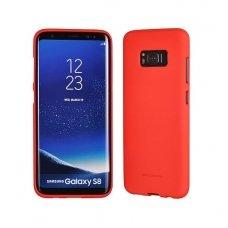 Huawei P10 Lite dėklas nugarėlė MERCURY JELLY SOFT FEELING silikonas matinis raudonas