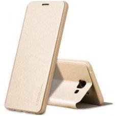 Huawei P10 Lite FIBER atverčiamas dėklas PIPILU/X-LEVEL oda auksinis