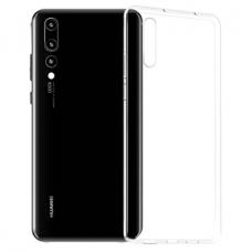 akcija! Huawei P20 ultra slim dėklas skaidrus 0.3mm silikonas