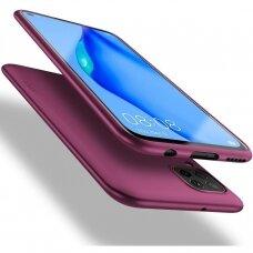 Akcija! Huawei P40 lite dėklas X-LEVEL GUARDIAN 0,6 mm silikonas bordo