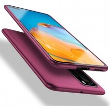 Akcija! Huawei P40 dėklas X-LEVEL GUARDIAN 0,6 mm silikonas bordo