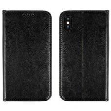 Huawei P20 Atverčiamas dėklas Book Special Tikra Oda Juodas