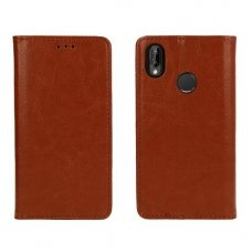 Huawei P20 Lite Atverčiamas dėklas Book Special Tikra Oda Rudas