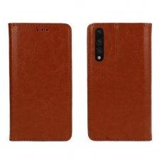 Huawei P20 Pro Atverčiamas dėklas Book Special Tikra Oda Rudas