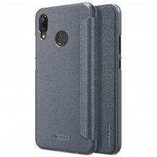 Huawei P20 lite atverčiamas dėklas Nillkin Sparkle PU pluoštas juodas