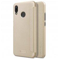 Huawei P20 lite atverčiamas dėklas Nillkin Sparkle PU pluoštas smėlinis