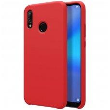 """Huawei P20 Lite aukštos kokybės dėklas """"Nillkin Flex Pure"""" Liquid silicone raudonas"""