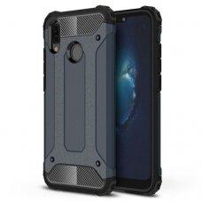 Huawei P20 Lite dėklas Hybrid Armor  TPU+PC plastikas mėlynas