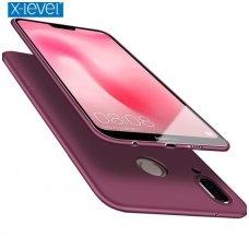 Huawei y7 2019 / y7 prime 2019 dėklas X-LEVEL GUARDIAN 0,6 mm silikonas bordo spalva
