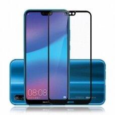 """Huawei p20 lite lenktas grūdintas apsauginis stiklas """"Full Glue""""H Pro 5D H9+ juodais kraštais"""
