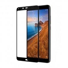 """Xiaomi redmi 7a lenktas grūdintas apsauginis stiklas """"Full Glue""""H Pro 5D H9+ juodais kraštais"""