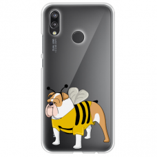 "Huawei P Smart Z TPU dėklas unikaliu dizainu 1.0 mm ""u-case Airskin Doggo 1 design"""
