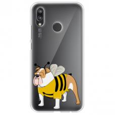 "Huawei P Smart 2019 TPU dėklas unikaliu dizainu 1.0 mm ""u-case Airskin Doggo 1 design"""