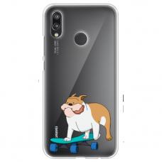 "Huawei P Smart 2019 TPU dėklas unikaliu dizainu 1.0 mm ""u-case Airskin Doggo 2 design"""