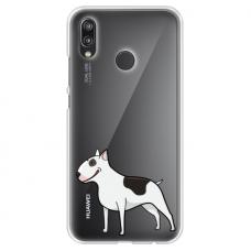 "Huawei P Smart 2019 TPU dėklas unikaliu dizainu 1.0 mm ""u-case Airskin Doggo 3 design"""