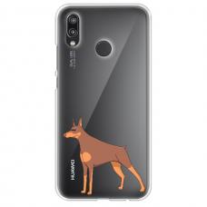 "Huawei P Smart 2019 TPU dėklas unikaliu dizainu 1.0 mm ""u-case Airskin Doggo 6 design"""