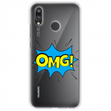 "Huawei P Smart 2019 TPU dėklas unikaliu dizainu 1.0 mm ""u-case Airskin OMG design"""