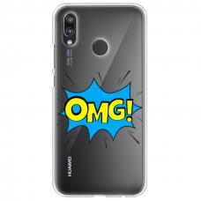 """Huawei P20 Lite TPU dėklas unikaliu dizainu 1.0 mm """"u-case Airskin OMG design"""""""