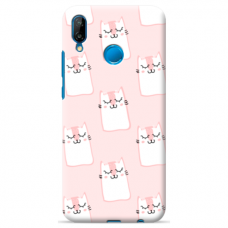 "Huawei P Smart 2019 TPU dėklas unikaliu dizainu 1.0 mm ""u-case Airskin Pink Kato design"""