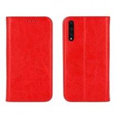 Huawei P20 Pro Atverčiamas dėklas Book Special Tikra Oda Raudonas