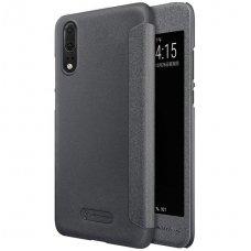 Huawei P20 pro atverčiamas dėklas Nillkin Sparkle pu oda juodas