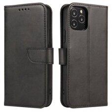 Akcija! Huawei P20 Pro dėklas Magnet Case elegant bookcase juodas