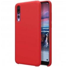 """Huawei P20 pro aukštos kokybės dėklas Nillkin Pure Flex """"Liquid silicone"""" Raudonas"""