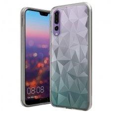 Huawei P20 PRO dėklas TPU Diamond iškiliu paviršiumi permatomas