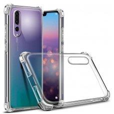 """Huawei P20 Pro dėklas """"Anti-shock""""sutvirtintais kampais silikonas skaidrus"""