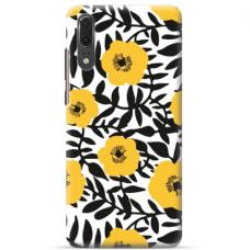 "Huawei P20 TPU DĖKLAS UNIKALIU DIZAINU 1.0 MM 1.0 mm ""u-case airskin Flowers 2 design"""